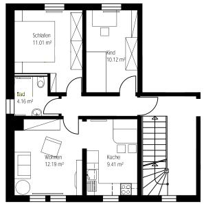 Grundriss Wohnung Links