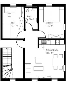 Grundriss Wohnung Rechts